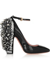 Rochas Embellished Patent Leather Mary Jane Pumps