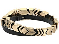 House Of Harlow Aztec Wrap Bracelet Gold Tone Black Bracelet