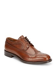 Saks Fifth Avenue Made In Italy Leather Wingtip Oxfords Cognac