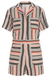 Paul And Joe Striped Silk Blend Romper