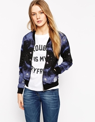 A Question Of Space Bomber Jacket Black