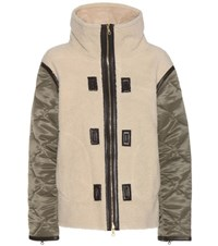 Rag And Bone Elson Liner Shearling Suede Jacket Beige