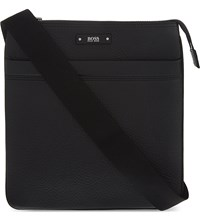 Hugo Boss Embossed Leather Pouch Black
