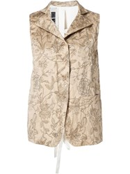 Uma Wang Floral Print Vest Nude And Neutrals