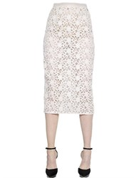 Burberry Cotton Lace And Organza Pencil Skirt