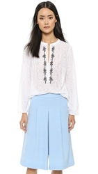 Nanette Lepore Fancy Free Blouse White