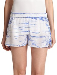 Equipment Landis Silk Shorts Amparo Blue