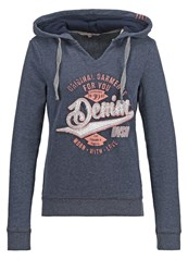 Tom Tailor Denim Hoodie Navy Dark Blue