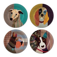Magpie Poochies Side Plates Set Of 4