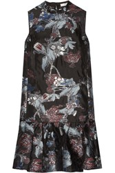 Erdem Nena Fil Coupe Organza Dress Black