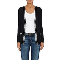 Barneys New York Women's Tipped Cashmere Cardigan Blue