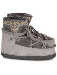 Inuikii Grey Embroidered Sheepskin Winter Boots