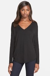 Trouve Women's Trouve 'Everyday' V Neck Sweater Black
