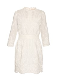 Vanessa Bruno Evangelista Embroidered Cotton Dress White