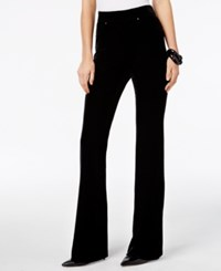 Inc International Concepts Velvet Pull On Flare Leg Pants Only At Macy's Deep Black