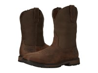 Ariat Groundbreaker Wide Square Toe H20 St Palm Brown Ballistic Brown Cowboy Boots