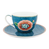 Pip Studio Spring To Life Cup And Saucer Blue