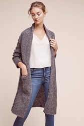 Anthropologie Current Elliott Slashed Cardigan Grey