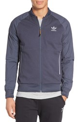 Adidas Men's Originals 'Sport Luxe' Mix Knit Track Jacket Utility Blue