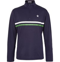Boast Striped Stretch Pique Sweatshirt Blue
