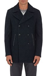 John Varvatos Star U.S.A. Men's Boucle Peacoat Blue