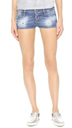 Dsquared California Low Waist Shorts Blue