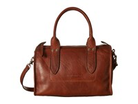 Frye Amy Zip Satchel Cognac Oiled Vintage Leather Satchel Handbags Brown
