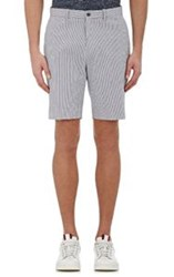 Michael Kors Men's Striped Seersucker Shorts Blue