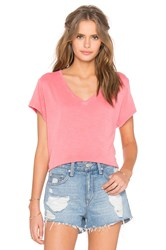 Feel The Piece Champion V Neck Tee Coral