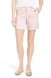Women's Nydj 'Avery' Roll Cuff Stretch Twill Shorts Peachskin