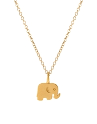 Dogeared Gold Dipped Good Luck Reminder Necklace With Elephant Charm