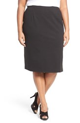 Eileen Fisher Plus Size Women's Stretch Ponte Pencil Skirt Black