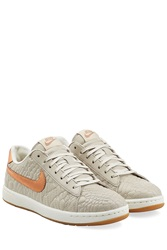 Nike Classic Ultra Premium Quilt Leather Sneakers Beige