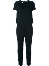P.A.R.O.S.H. Short Sleeve Jumpsuit Black