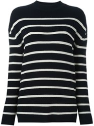 Mih Jeans Ribbed Striped Jumper Blue