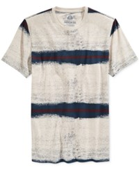 American Rag Men's Sprayed Striped T Shirt Only At Macy's Dark Scalet