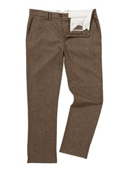 Linea Vinci Formal Birdseye Trousers Brown