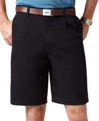 Dockers Big And Tall D3 Double Pleat Shorts Black