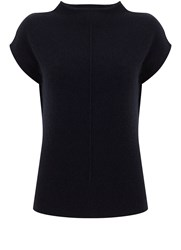 Mint Velvet Navy Cashmere Knit Blue