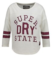 Superdry Long Sleeved Top Vintage White Off White