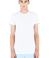 Aiezen Soft Cotton Crew Neck T Shirt White