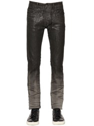 Diesel Black Gold 17Cm Gradient Coated Stretch Denim Jeans