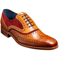 Barker Mcclean 2 Tone Leather Brogue Oxford Shoes Cedar