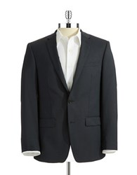 Dkny Skinny Two Button Suit Jacket Navy
