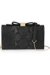 See By Chloe Nora Python Effect Leather Shoulder Bag