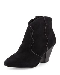 Ash Gang Suede Pointed Toe Bootie Black