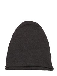 Isabel Benenato Raw Cut Fine Wool Knit Beanie Hat
