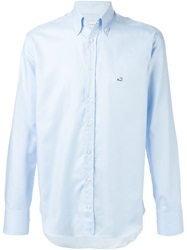 Etro Embroidered Logo Shirt Blue