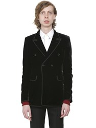Saint Laurent Double Breasted Velvet Jacket