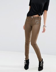 Only Olivia Coated Jeans Chocolate Chip Brown